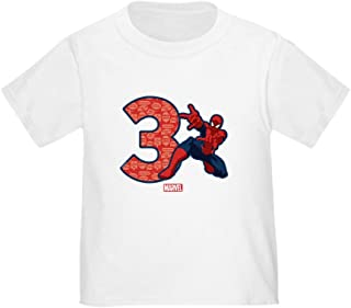 CafePress Spider-Man Birthday Age 3 T-Shirt Toddler Tshirt
