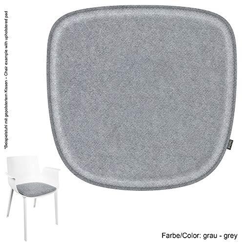 Feltd. Eco Filz Kissen geeignet für Kartell Piuma - 29 Farben - optional inkl. Antirutsch und gepolstert (Oberseite - grau)