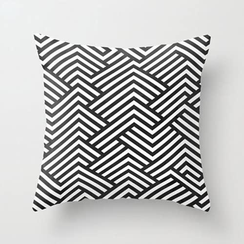 LIDANN Funda de Almohada Fundas de cojín abstractas de geometría Media para el hogar Fundas de Almohada Decorativas para sillas de sofá