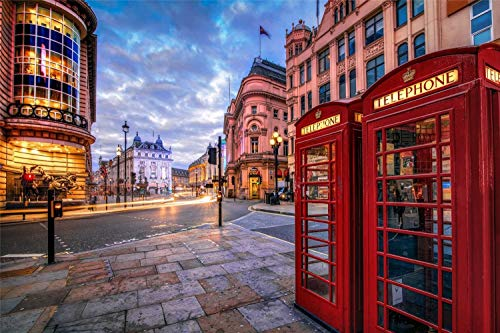 Rompecabezas De 1000 Piezas Para Adultos Cabina De Teléfono De Londres Montaje De Madera Decoración Para El Hogar Juego De Juguetes Juguete Educativo Para Niños Y Adultos
