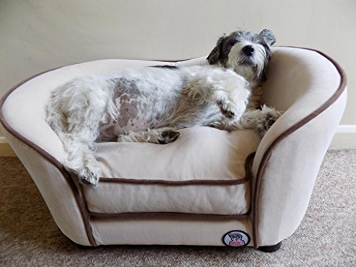 'Millies' Ultimate luxury Cream Faux Micro Suede Dog Bed , Cat , Pet Sofa, luxury comfort for your...