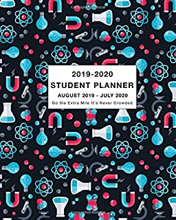Student Planner 2019-2020 Go the Extra Mile It's Never Crowded: Weekly and Monthly Planner and Calendar Academic Year August 2019 - July 2020