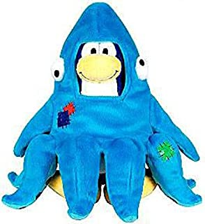 Disney Club Penguin 6.5 Inch Series 11 Plush Figure Squidzoid Version 2 Includes Coin with Code!