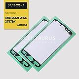 CENTAURUS Replacement for Motorola Moto Z2 Force Edition XT1789-01 XT1789-02 XT1789-03 XT1789-04 XT1789-05 XT1789-06 LCD Frame Adhesive (2pcs) Front Housing Glue Double-Sided Sticker Tape