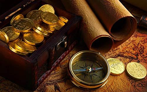 UHvEZ Puzzles de 1000 Piezas, Brújula Rompecabezas de Madera Personalizados, imágenes Completas, Juguetes de Bricolaje para decoración de Adultos 50x75cm