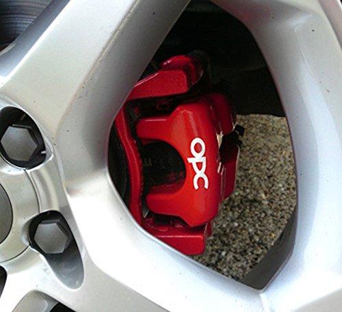 snstyling.com Pegatina para Encajar OPC Pinza de Freno Pegatina Conjunto Opel Vectra Corsa Astra Zafira A B C D E F G H (Blanco)