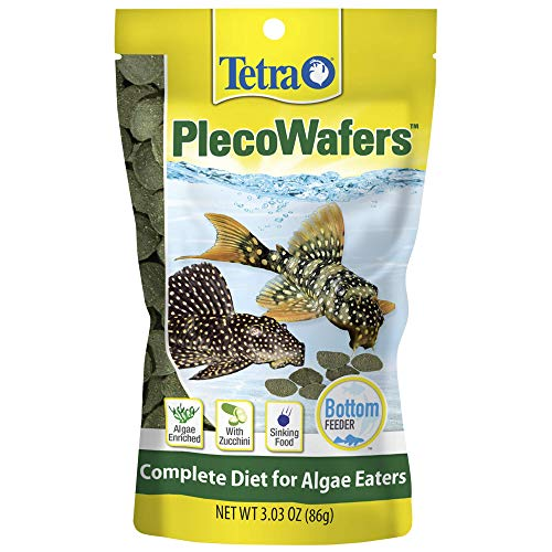 Tetra PlecoWafers 3.03 Ounces, Nutritionally Balanced Fish...