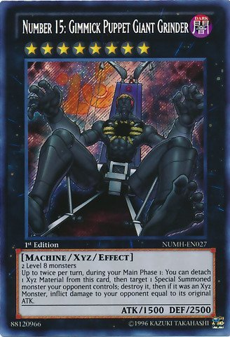 Yu-Gi-Oh! - Number 15: Gimmick Puppet Giant Grinder (NUMH-EN027) - Number Hunters - Unlimited Edition - Secret Rare