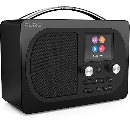 Pure Evoke H4 Digitalradio (DAB+, DAB, UKW, Bluetooth, Farbdisplay, Sleep-Timer, Weckfunktion, Schlummerfunktion, Countdown-Timer, 40 Senderspeicherplätze, AUX), Schwarz
