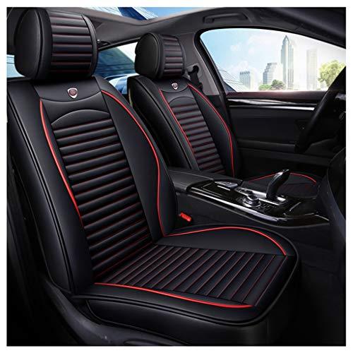 QRFDIAN Cubierta de asiento de carro | Cubierta de asiento de carro | Juego de fundas de asiento de cuero para automóvil | Juego delantero y trasero Juego completo de 5 asientos Protectores de asiento