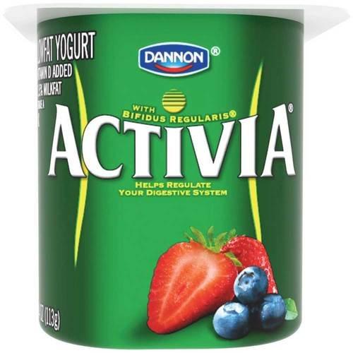 Activia Mixed Berry Probiotic Yogurt, 4 Ounce -- 24 per case.