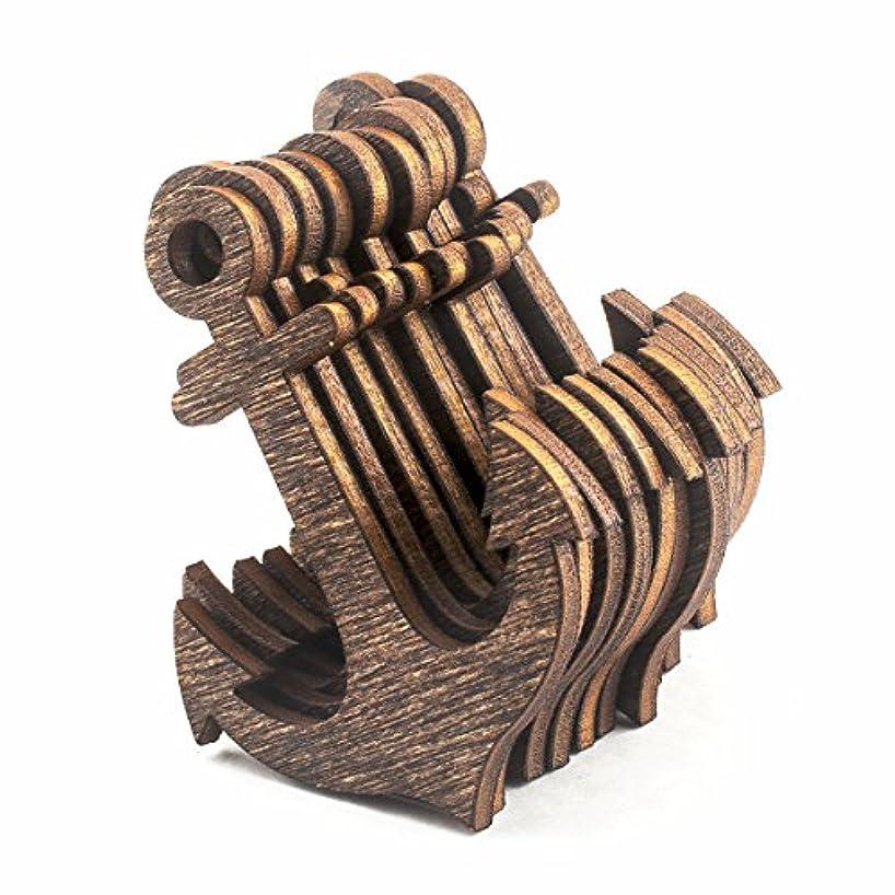 Summer-Ray 50pcs Dark Brown Laser Cut Wooden Veneer Anchor 2