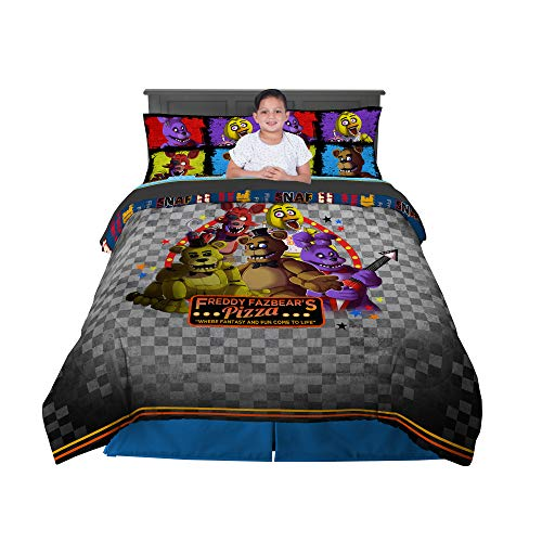 Franco Kids Bedding Comforter and Sheet Set, 5 Piece Full Size, Five Nights at Freddy's