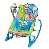 NIMON Silla Mecedora 3 en 1 para bebé y sillón reclinable Convertible para niños pequeños con cinturón de Seguridad cojín extraíble y música de Refuerzo Baby Calm Down Well-Liked