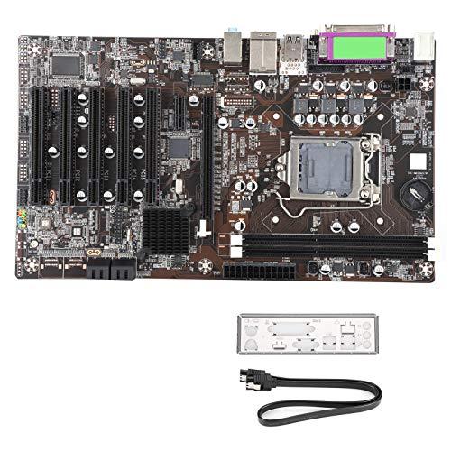 Pusokei Placa Base de Escritorio, Intel H61, DDR3 1600/1333/1066 MHz Memoria, 5 * Interfaz PCI, 1 * Tarjeta gráfica PCI-EX16 / 1 * Ranura PCI-E X1, Placa Base IPC