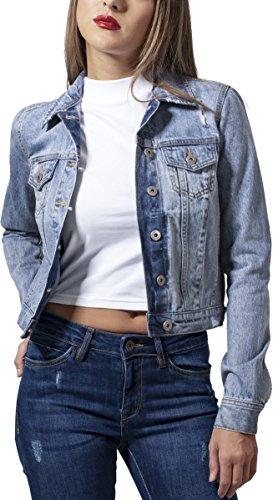 Urban Classics Damen Ladies Denim Jacket Jeansjacke, Blau (Bleached Blue 831), X-Small