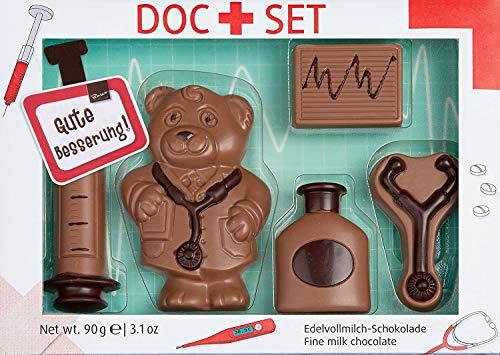 Gute Besserung - Schokolade zum Verschenken - Arzt Geschenkbox aus Edelvollmilch-Schokolade (100 g)