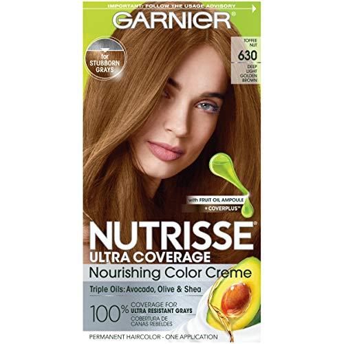 Garnier Nutrisse Ultra Coverage Hair Color, Deep Light Golden Brown (Toffee Nut) 630 (Packaging May Vary), Pack of 1