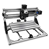 VEVOR CNC 3018 CNC Router Kit 3 Axis CNC Router Machine GRBL Control with ER11 and 5mm Extension Rod for Plastic Acrylic PCB PVC Wood Carving Milling Engraving Machine(XYZ Working Area 300x180x45mm)