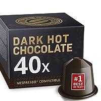 Intense Chocolat Chaud pour Nespresso. Intense & Sombre. 40 Capsules.