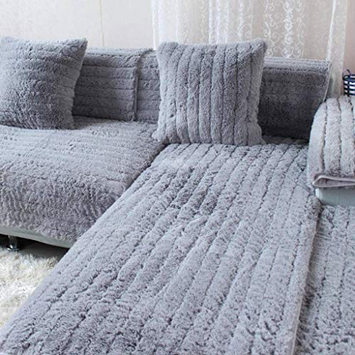 HOCOL effen pluche bankovertrek, anti-slip mode vier seasons algemeen gewatteerde meubels bankovertrek, voor woonkamer