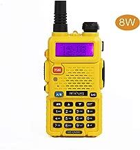 HESENATE HT-UV5R Plus Series Dual Band VHF UHF Walkie Talkie Ham Two Way Radio(Yellow)