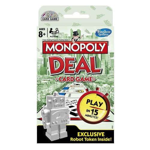 Monopoly Deal Card Game with Exclusive Robot Token