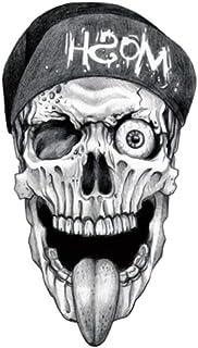 EROSPA® Tattoo-Bogen temporär / Sticker - Totenkopf Mütze