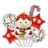 FUBINMY Globos de cumpleaños 1set Feliz Navidad Foil Globos Santa Claus Muñeco de Nieve Globo Globos Ciervos de Navidad Penguin Air Juguete Decoraciones de Navidad para Casa (Farbe : 4)