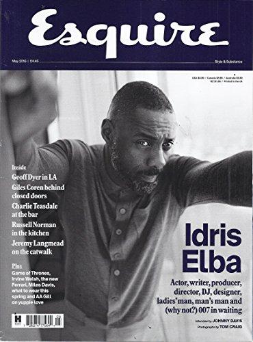 Esquire Magazine (UK Edition - May 2016 - Cover: Idris Elba)