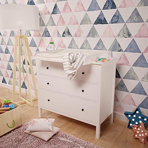 Polini niños cambiador para cómoda Hemnes IKEA en blanco, 1412.9
