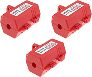 Perfk 3 Pieces Plug Lockout Device for 0.7in Cable Dia. Plug Lockouts