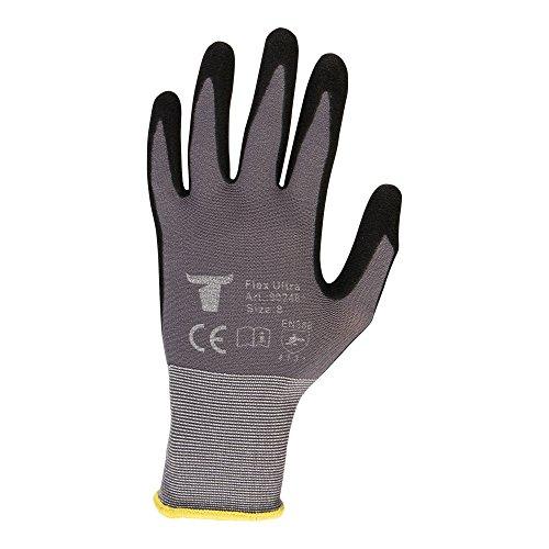 STIER Montagehandschuhe, 12 Paar, Flex Ultra, Größe 10, Nitrilbeschichtet, zweifach Beschichtung, atmungsaktiv und wasserabweisend, Optimales Tastgefühl