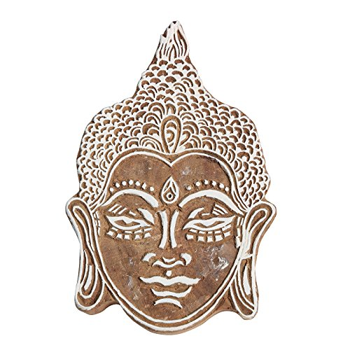CRAFTSTRIBE Buddha Gestaltet hölzerne Fertigkeit Block-Muster Indian Druck Stempel