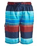 Kanu Surf Men's Swim Trunks (Regular & Extended Sizes), Echelon Navy/Red, Large