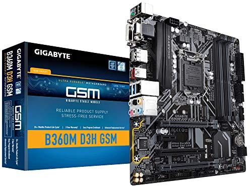 GIGABYTE B360M D3H GSM LGA1151/Intel B360/DDR4/Quad CrossFireX/SATA3&USB3.1/M.2/A&GbE/MicroATX Motherboard