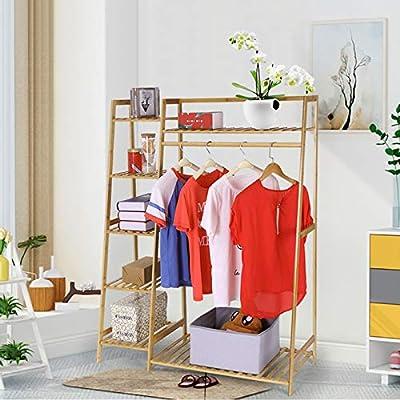 US Stock Bamboo Clothing Racks,Multifunctional ...
