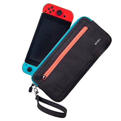 CHIN FAI Slim Carry Case para Nintendo Switch, Funda Protectora de Viaje portátil y Protectora a Prueba de Agua con Ranuras para Tarjetas de Juego