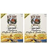New Hope Mills Low Carb Blueberry Muffin & Bread Mix 2 Pack (8oz Each) - Sugar Free Blueberry Muffin Mix - Breakfast Alternative - 16 oz Blueberry Muffin Mix