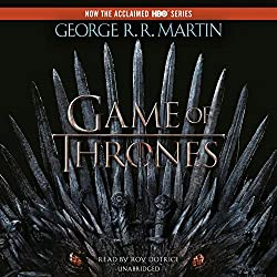 The Cover of Game of Thrones, Book 1 in George R.R. Martin's A Song of Ice and Fire, featuring a picture of the Iron Throne, made of melted swords. Talk about a writer who decided to Go For It!