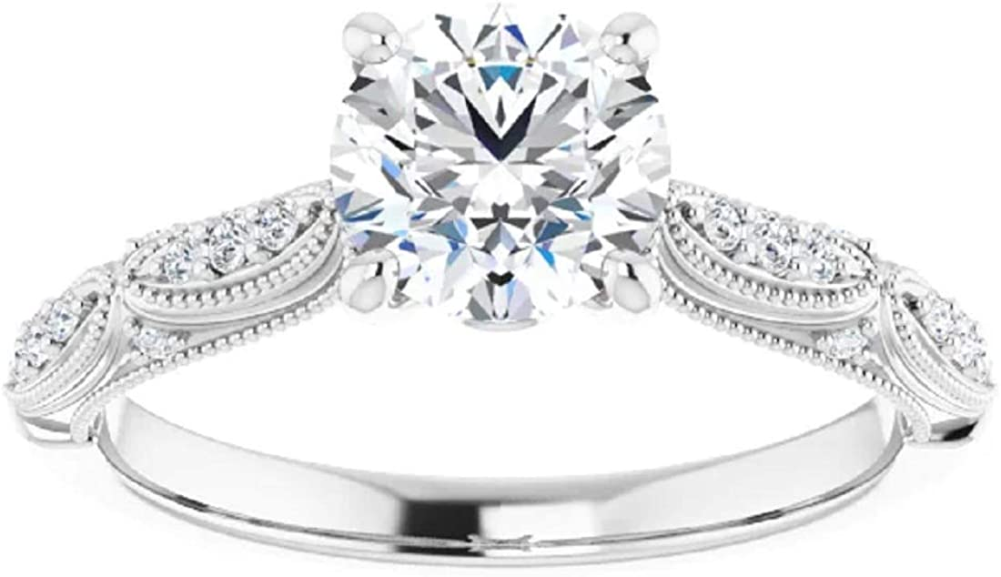 Rosie Collection Art Deco Antique Wedding Engagement Cheap mail Charlotte Mall order shopping Ring Style