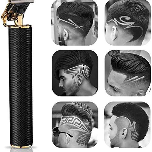 Suneagle Tondeuse à Cheveux NuméRique Rechargeable USB,Cordless Close Cutting T-Blade Trimmer for Men,Tondeuse à Cheveux sans Fil pour Salon De Coiffu