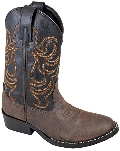 Smoky Mountain Youth Boys Monterey Western Cowboy Boots Brown/Black, 6M