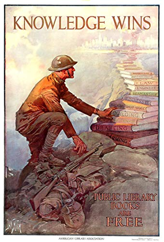 WholesaleSarong WW1 American Library Assoc. (US) Propaganda Poster Modern Home Accent Wall Decor Buy Decoration