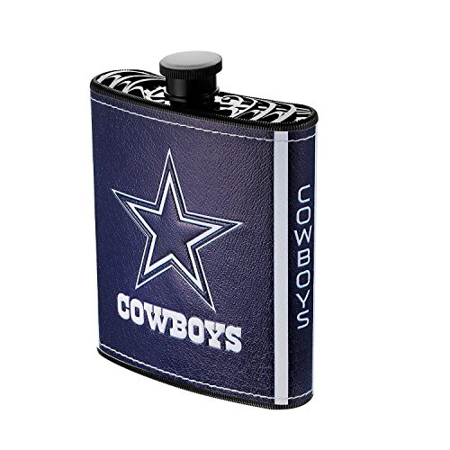 NFL Dallas Cowboys Plastic Hip Flask, 7-ounce, Blue