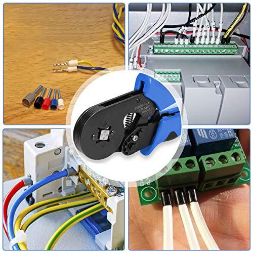 Ferrule Crimping Tool Kit Crimper Plier W// 1200pcs Wire Ferrules Ends AWG 28-7