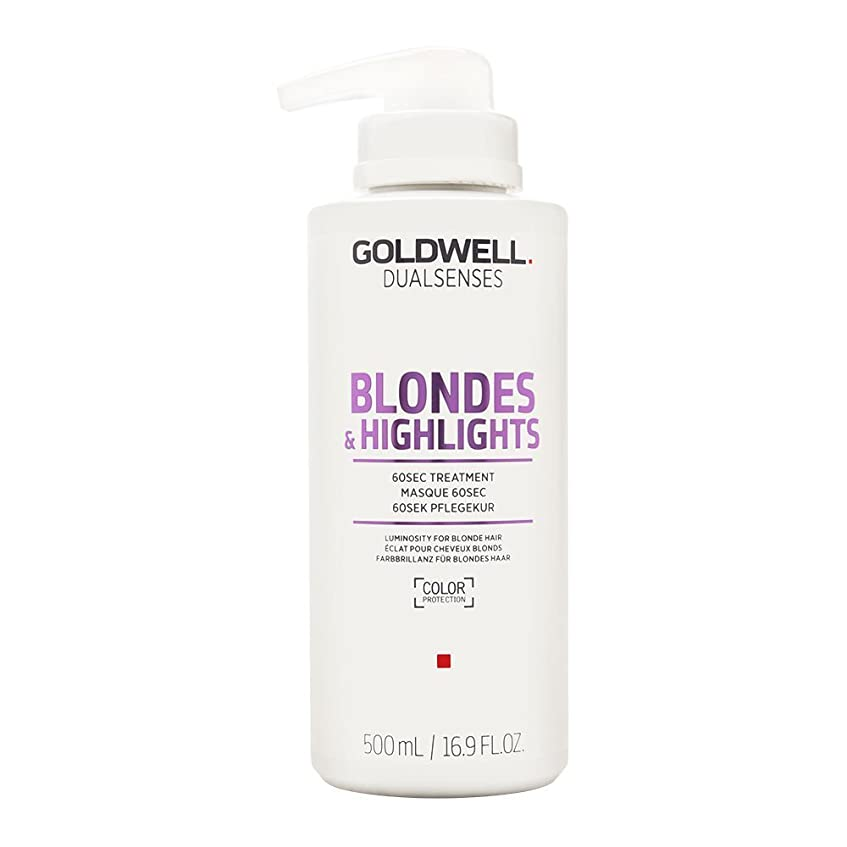 反逆楽なさようならゴールドウェル Dual Senses Blondes & Highlights 60SEC Treatment (Luminosity For Blonde Hair) 500ml/16.9oz並行輸入品