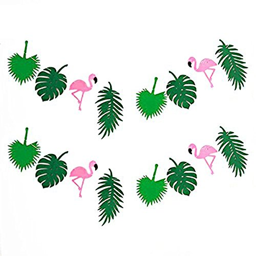 KEFAN Sommer Tropical Party Banner Girlande für Hawaiian Luau Geburtstag Party Festival Dekoration (Flamingo)