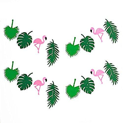 KEFAN Estate Tropicale Striscione Ghirlanda Decorazione per Festa Hawaiana Luau Birthday Festival (Fenicottero)