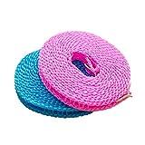 greenwoodhomer antideslizante secado ropa percha cuerda resistente al viento...